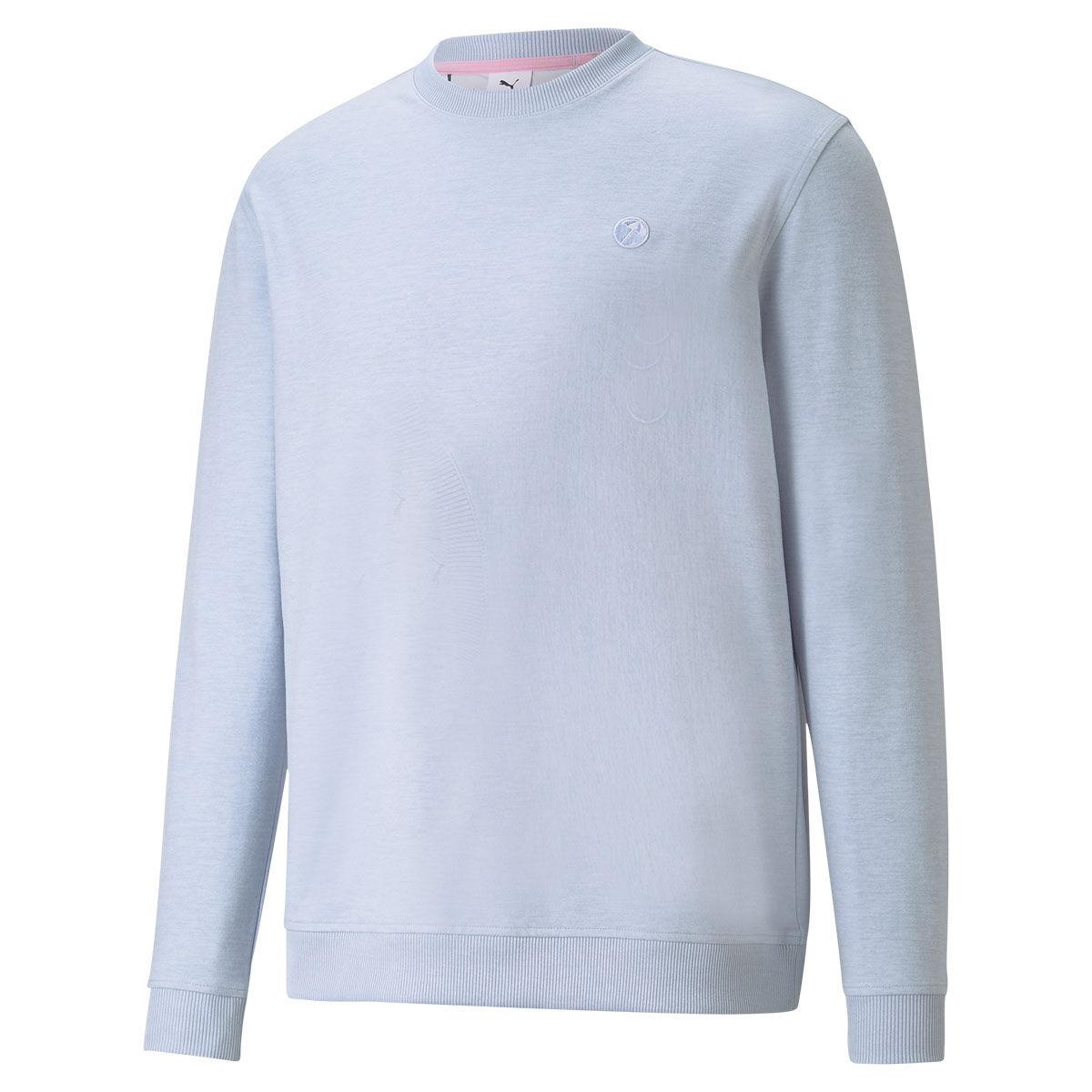 PUMA Golf AP Cloudspun Golf Sweater, Mens, Large, Halogen blue heather | American Golf
