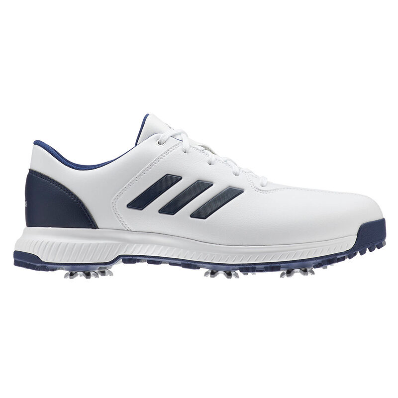 adidas Golf CP Traxion Shoes Male WhiteDark BlueSilver Met 8 Regular