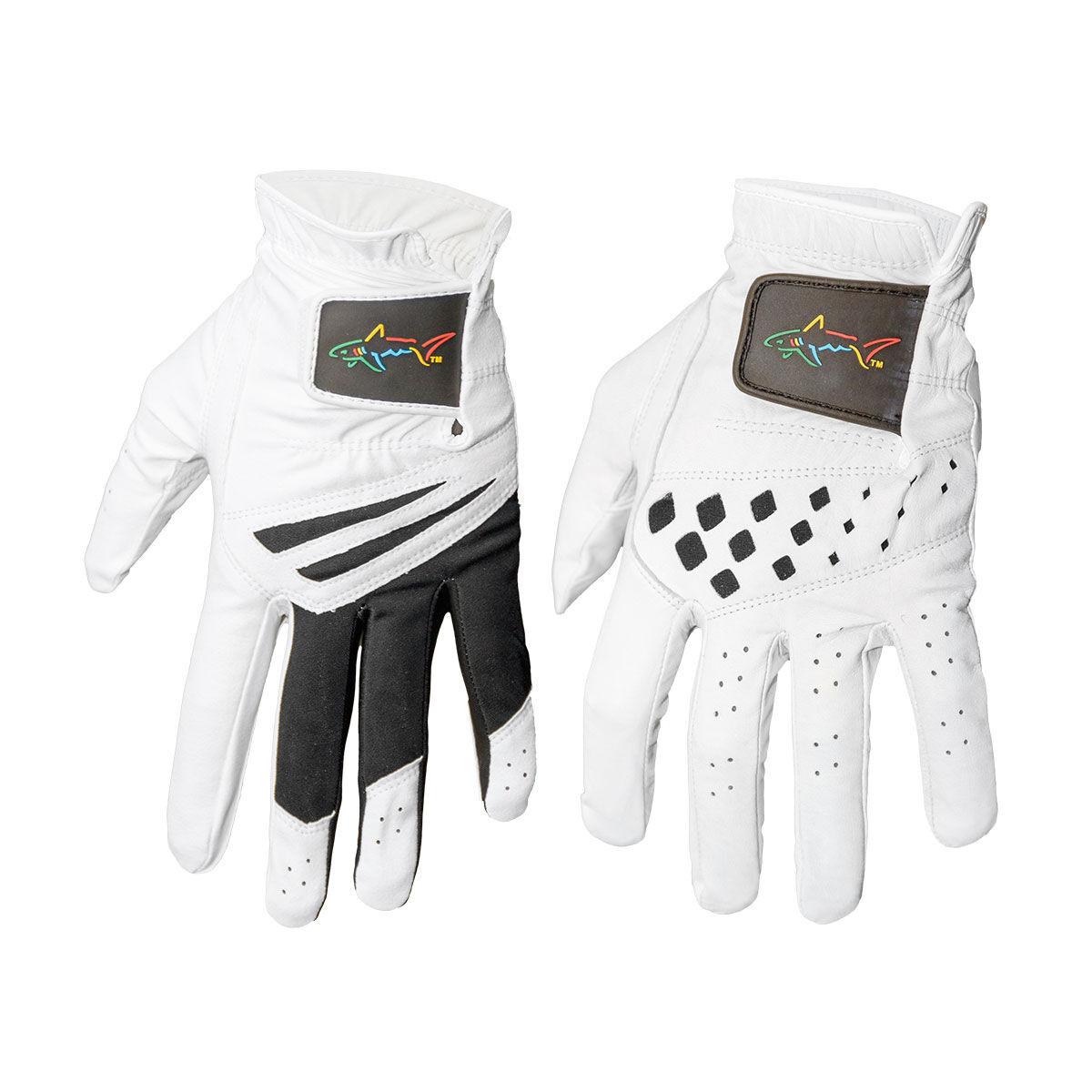 Greg Norman 2 Pack Golf Gloves, Mens, Small, White/black   American Golf