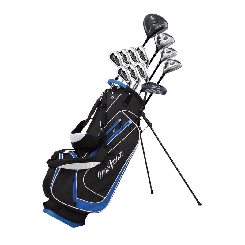 MacGregor DCT2000 Stand Bag Graphite Package Set Male Right Hand Stand Bag BlackBlue