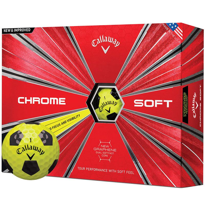 Callaway Golf Chrome Soft Truvis 12 Ball Pack Male YellowBlack
