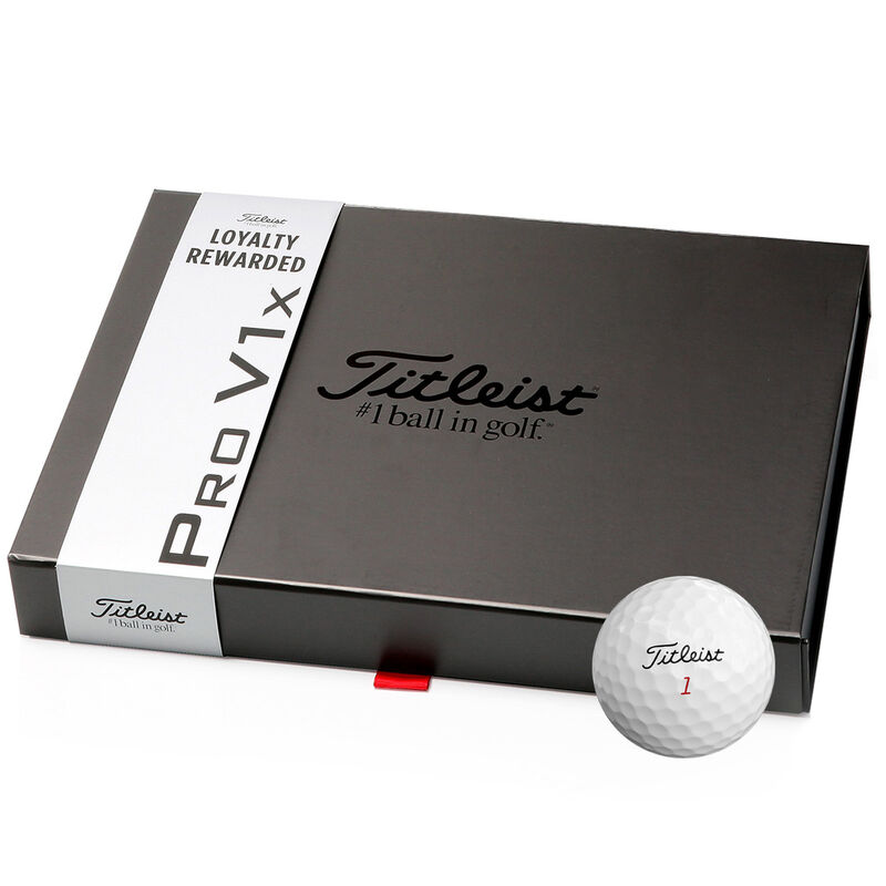 Titleist Pro V1x Loyalty Rewarded 48 Ball Pack Male White