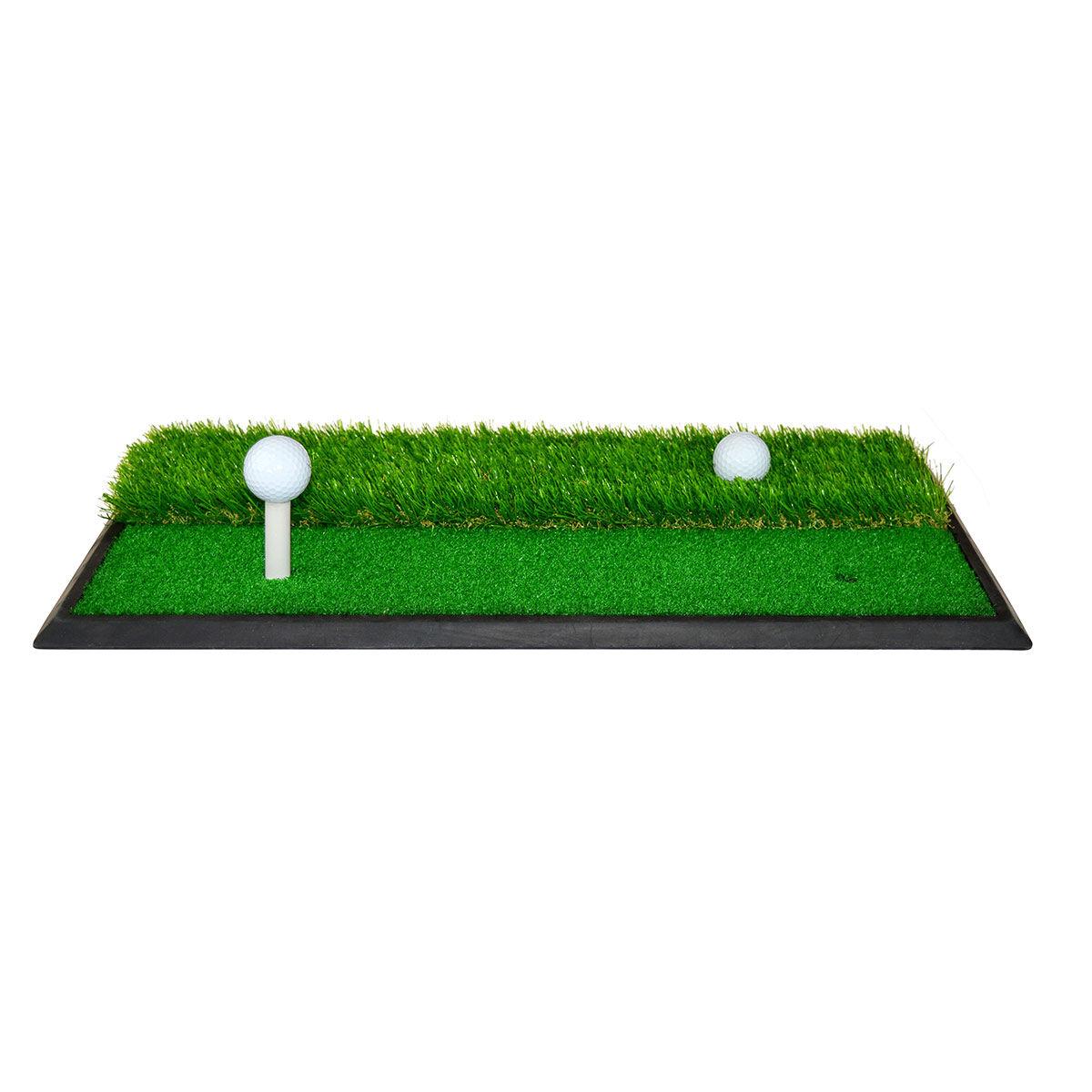 PGA Tour 2 in 1 Turf Practice Mat, Male, Medium, Pink/black | American Golf