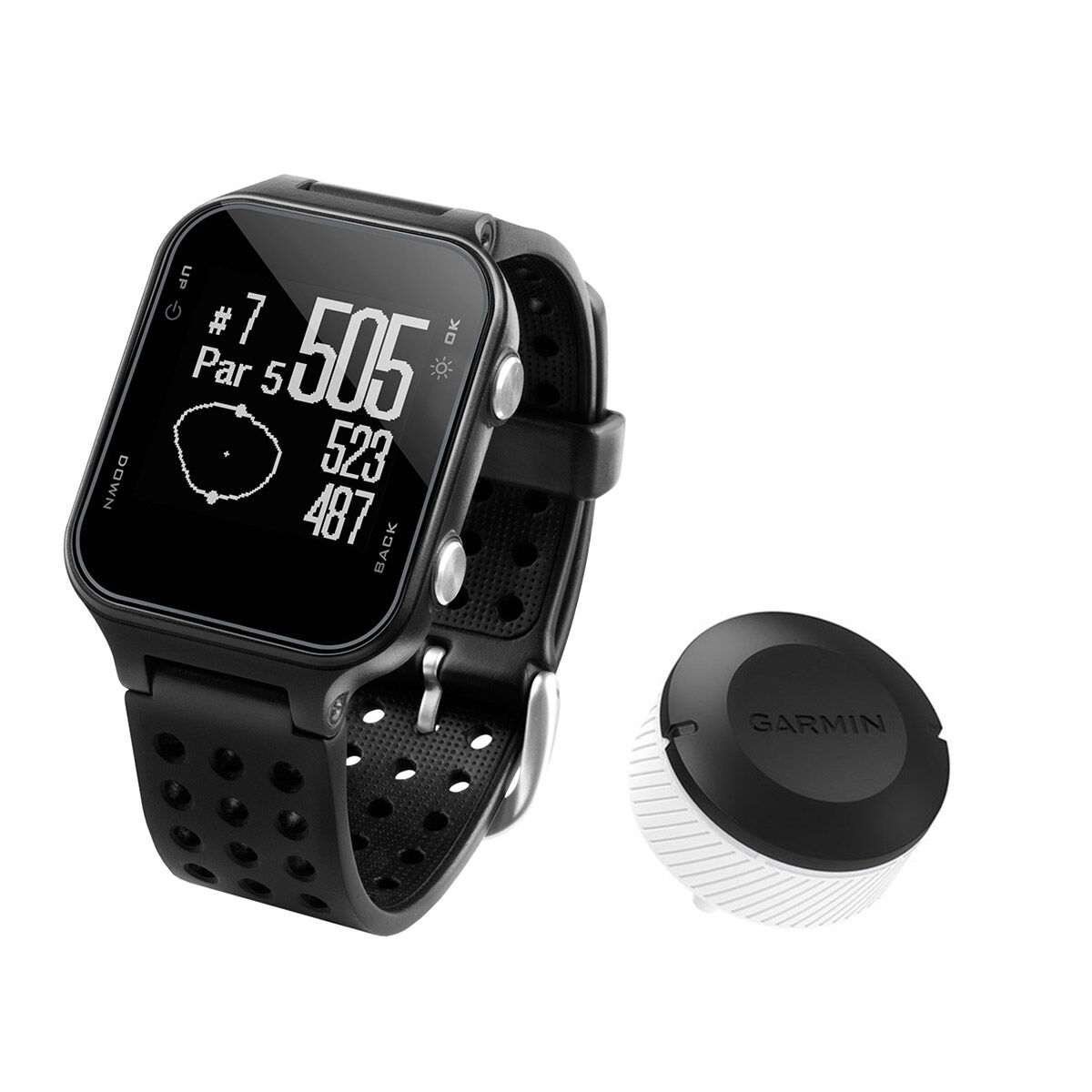 Garmin Approach S20 Golf GPS Watch & CT10 Bundle, Male, Black