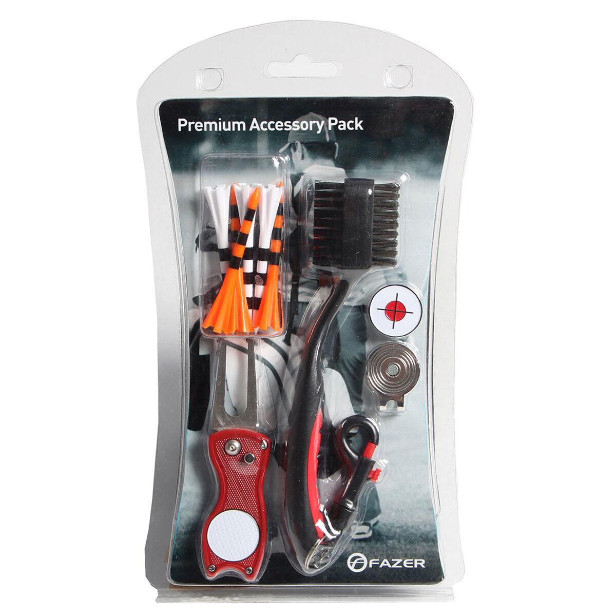 Fazer Black, Orange and Red Premium Accessories Golf Pack