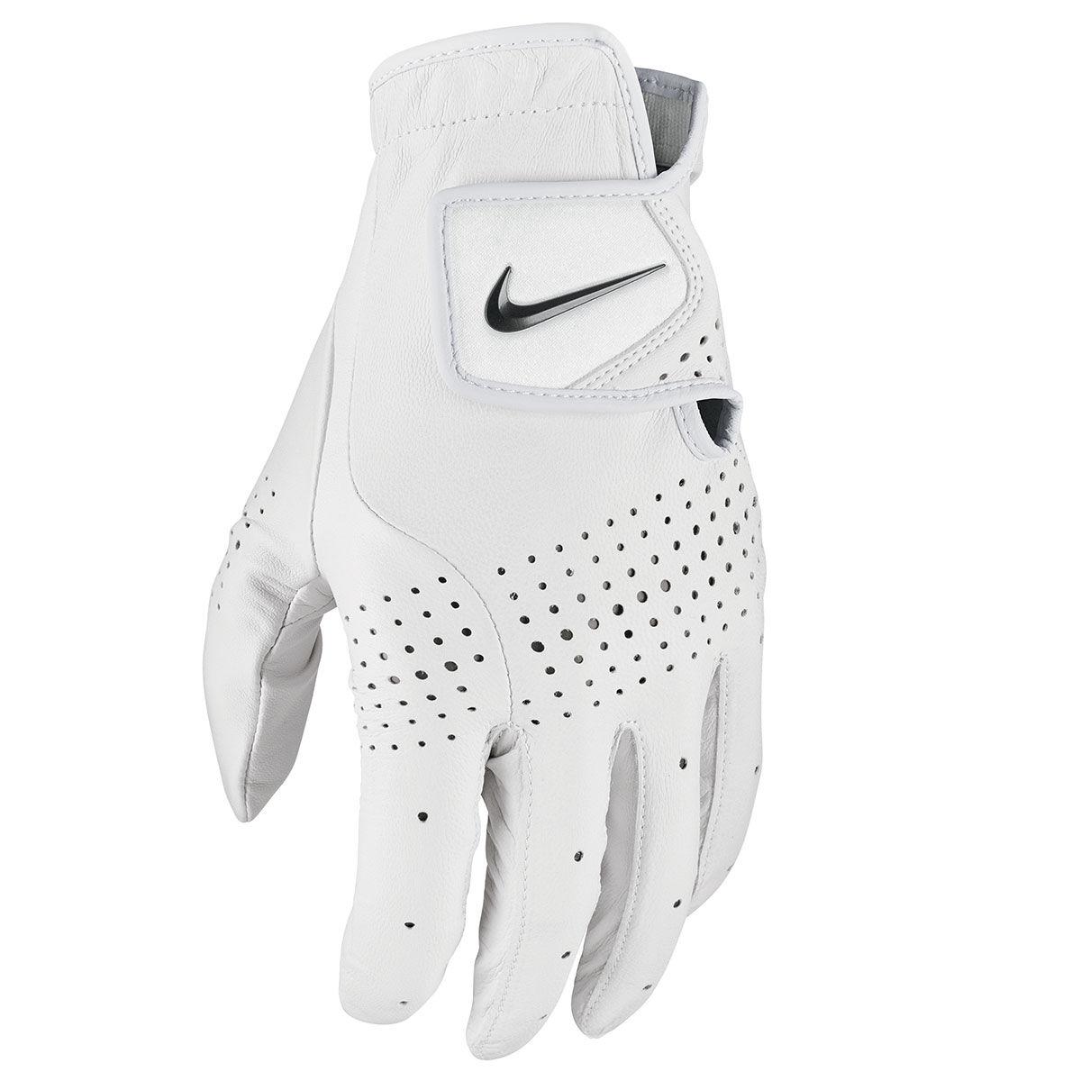 Nike Golf Tour Classic III Golf Glove, Mens, Left hand, Medium/large, Pearl white/black   American Golf