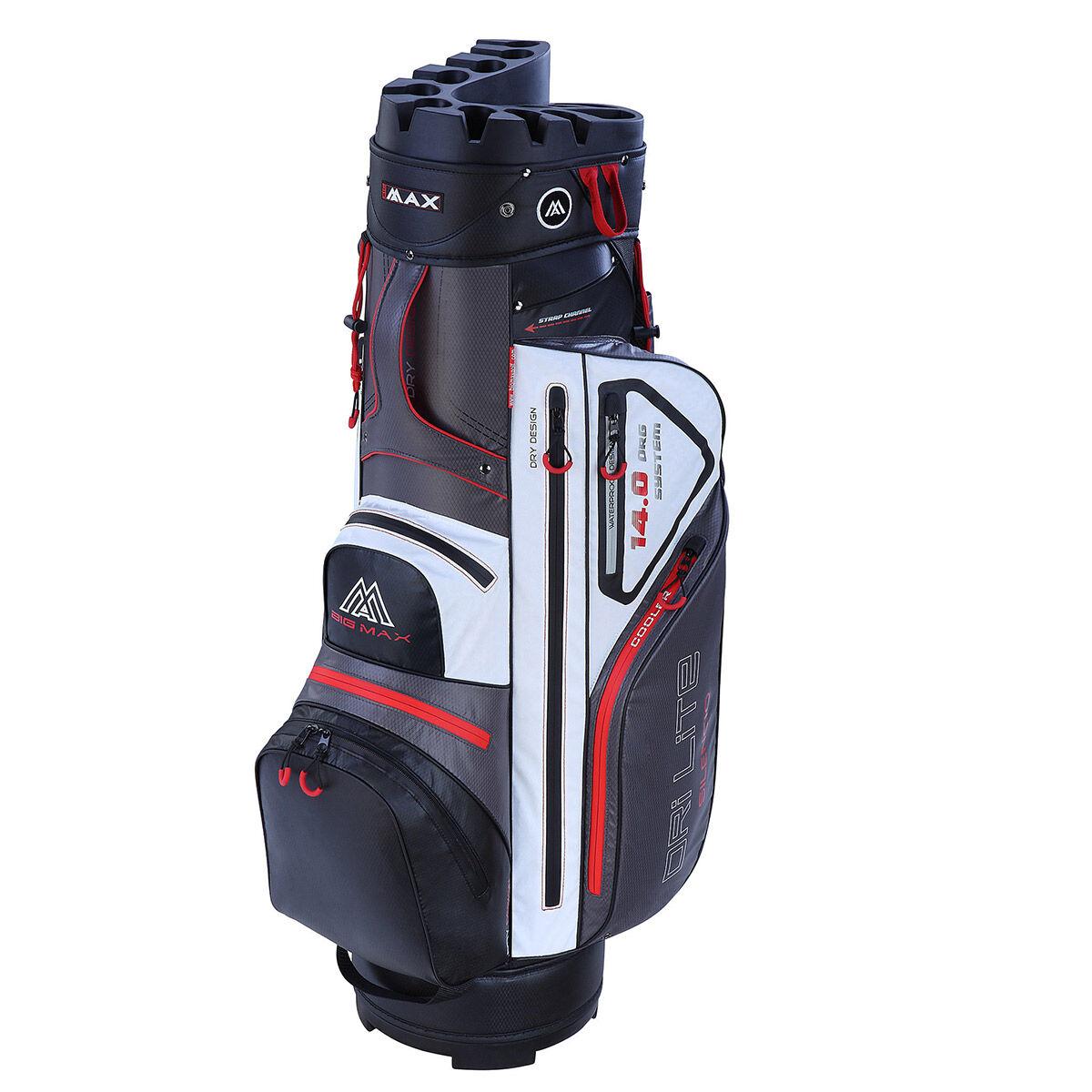 BIG MAX Dri Lite Silencio Golf Cart Bag, Charcoal/black/white/red, One Size | American Golf