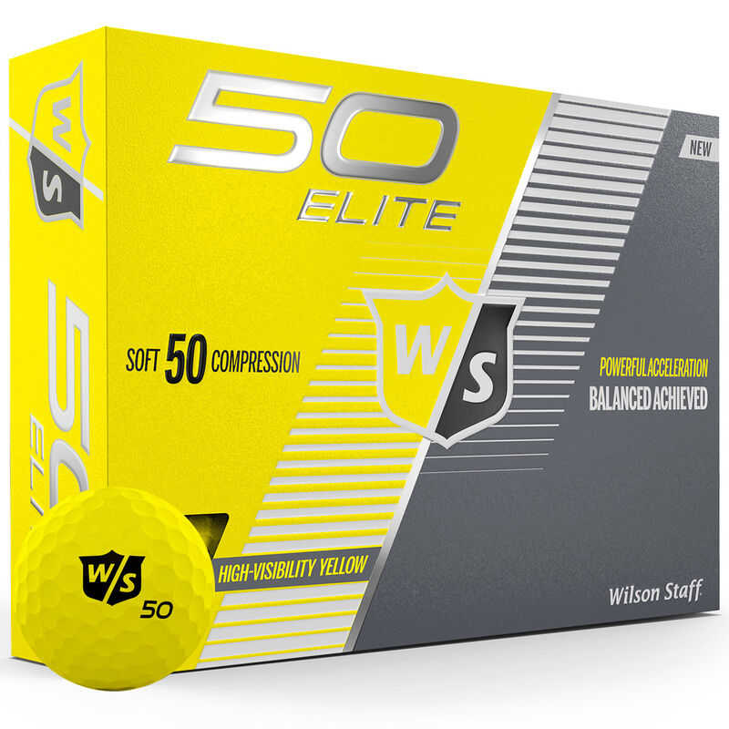 Wilson Staff Fifty Elite 12 Ball Pack Male Yellow