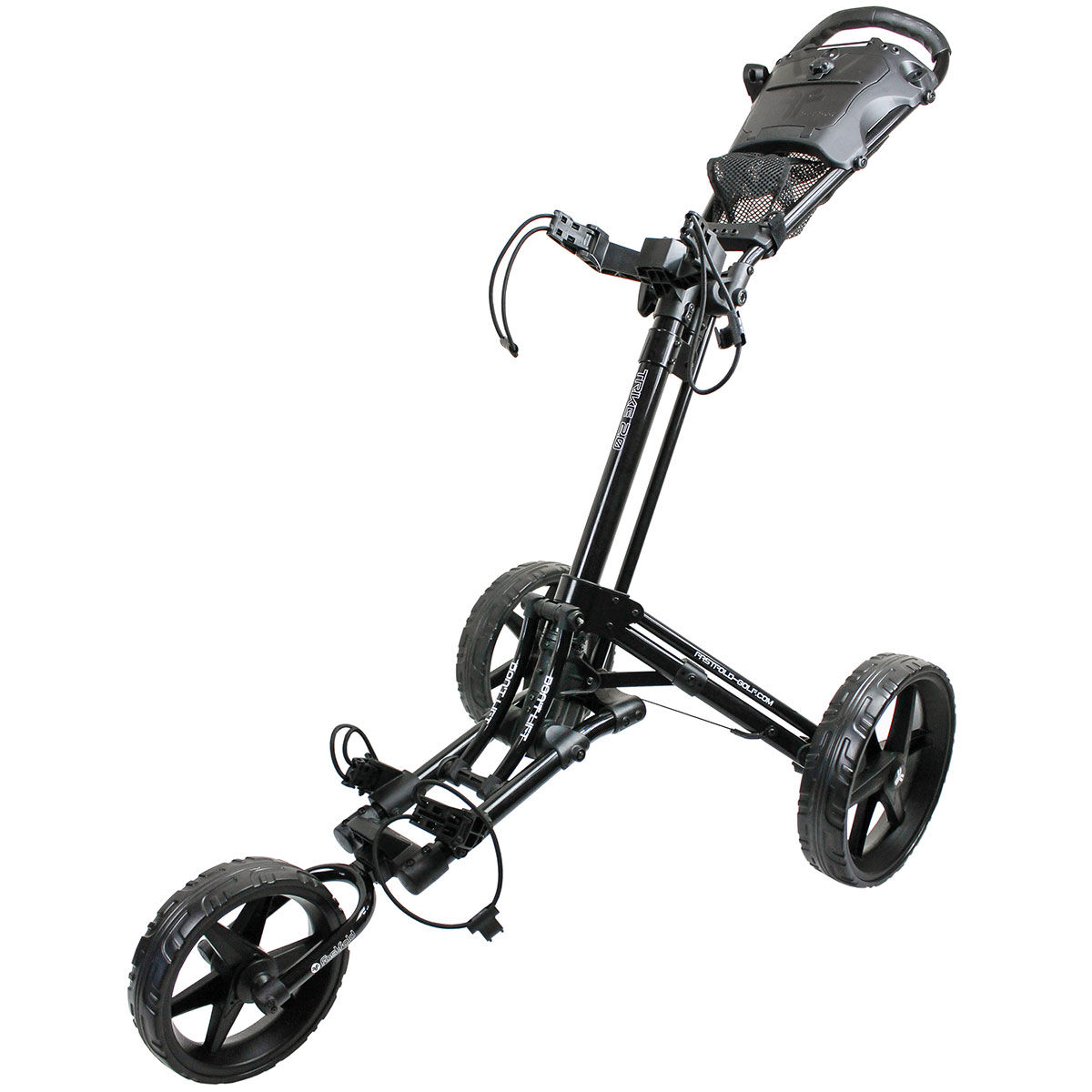 Fast Fold Black Lightweight Trike 2.0 Golf Trolley, Size: 78x42x40cm | American Golf | American Golf
