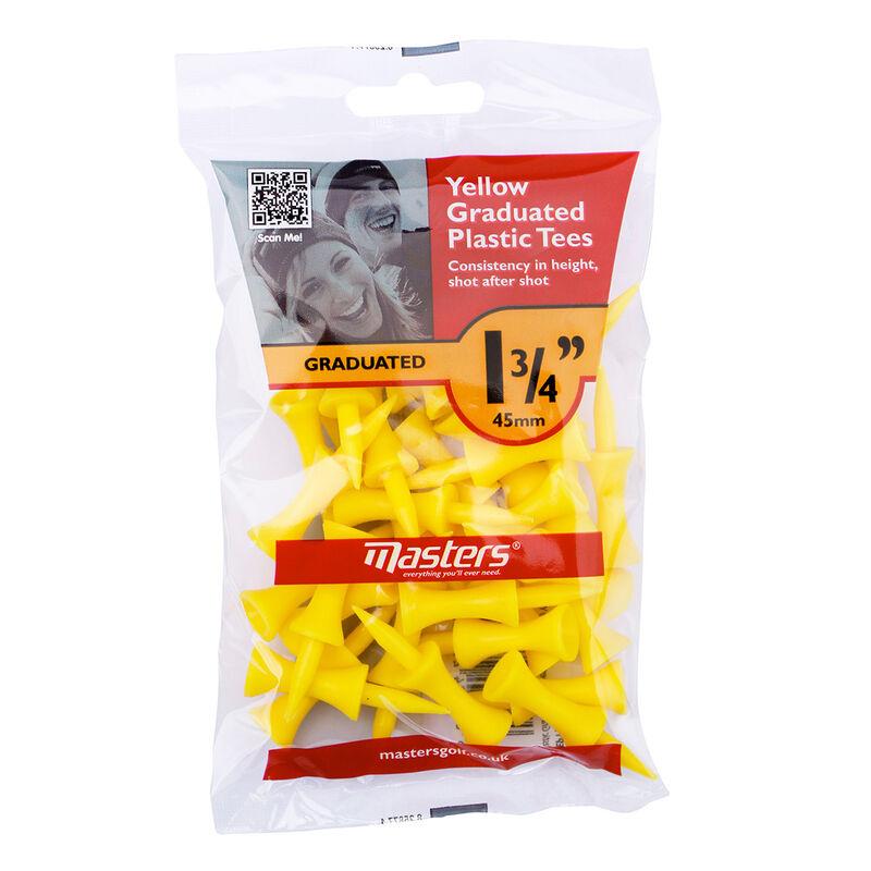 Masters Golf Graduated Plastic Tees Male Tees Yellow 45mm