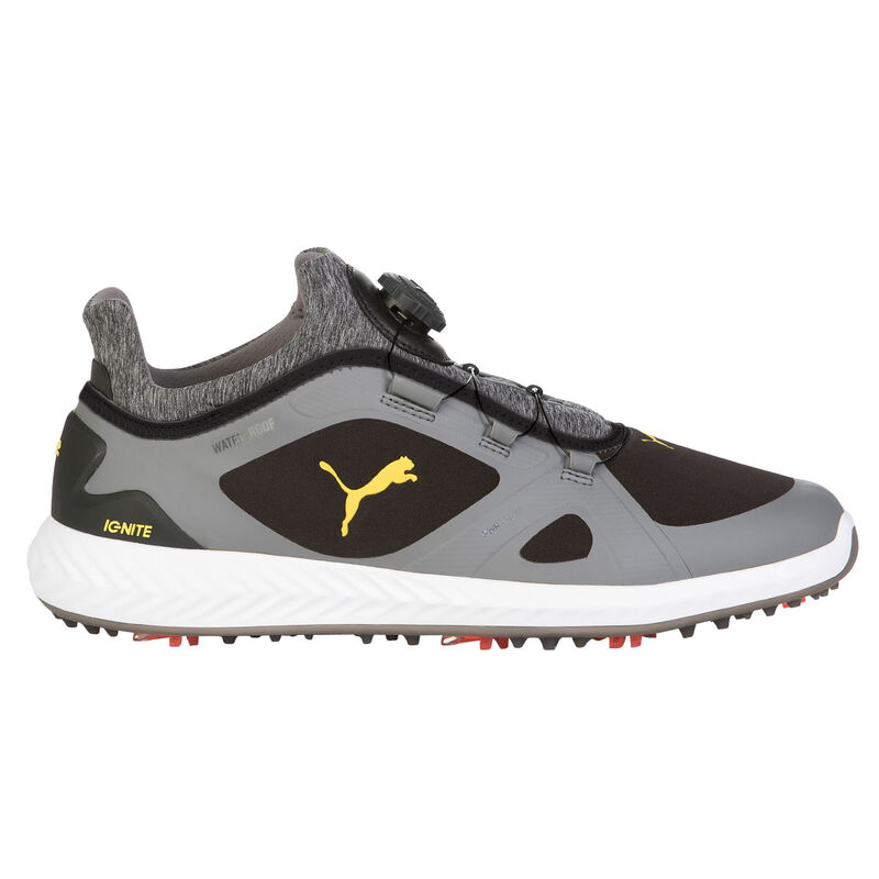 PUMA Golf IGNITE PWRADAPT DISC Shoes Male BlackFerrari Yellow 7