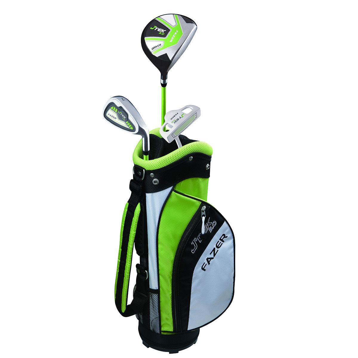 Fazer J TEK 5.0 Age 3-5 Junior Package Set, Unisex, Right Hand, Golf Stand Bag, Green