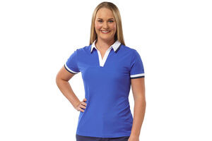 Palm Grove V-Neck Ladies Polo Shirt