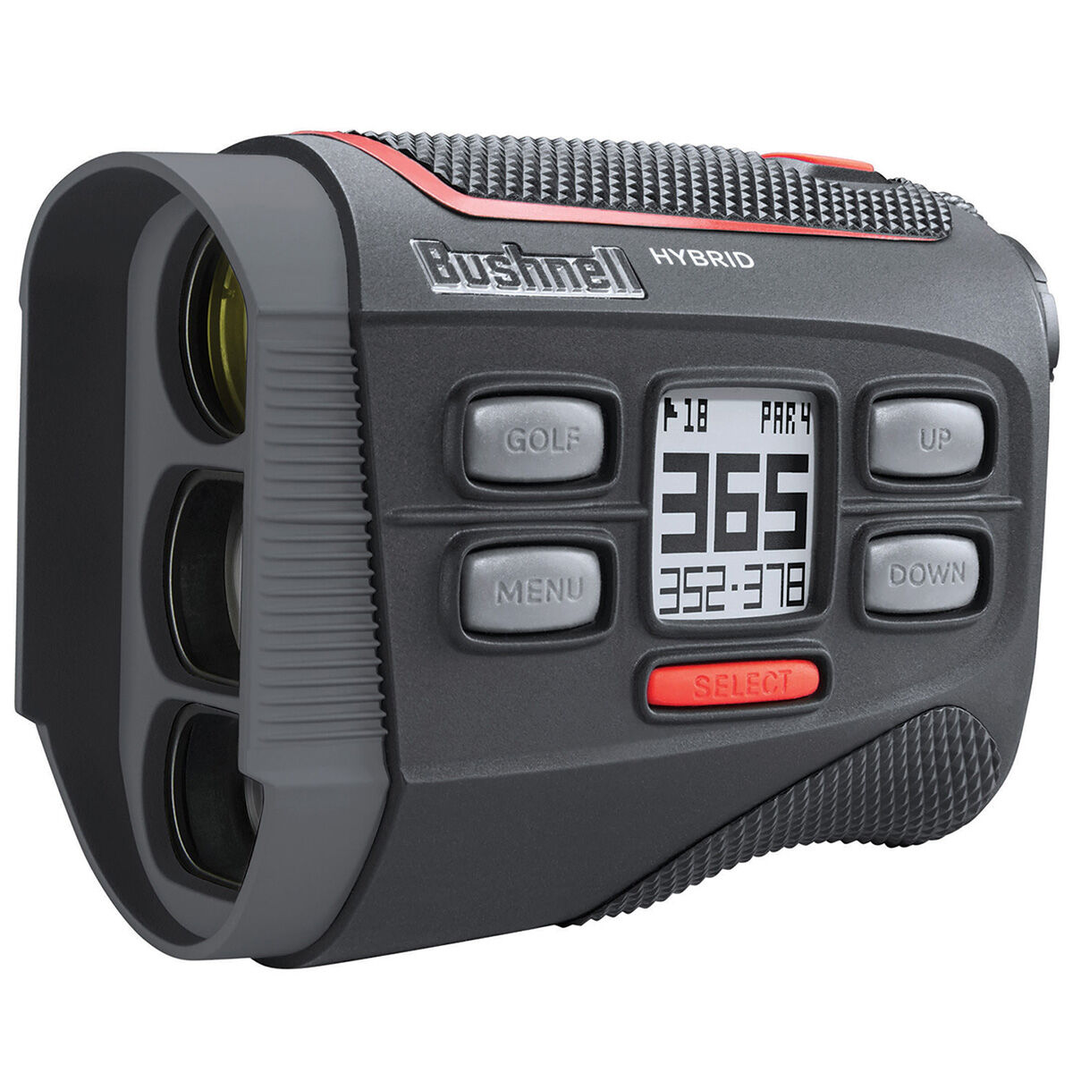 Bushnell Black and Red Hybrid V2 Handheld Golf Rangefinder