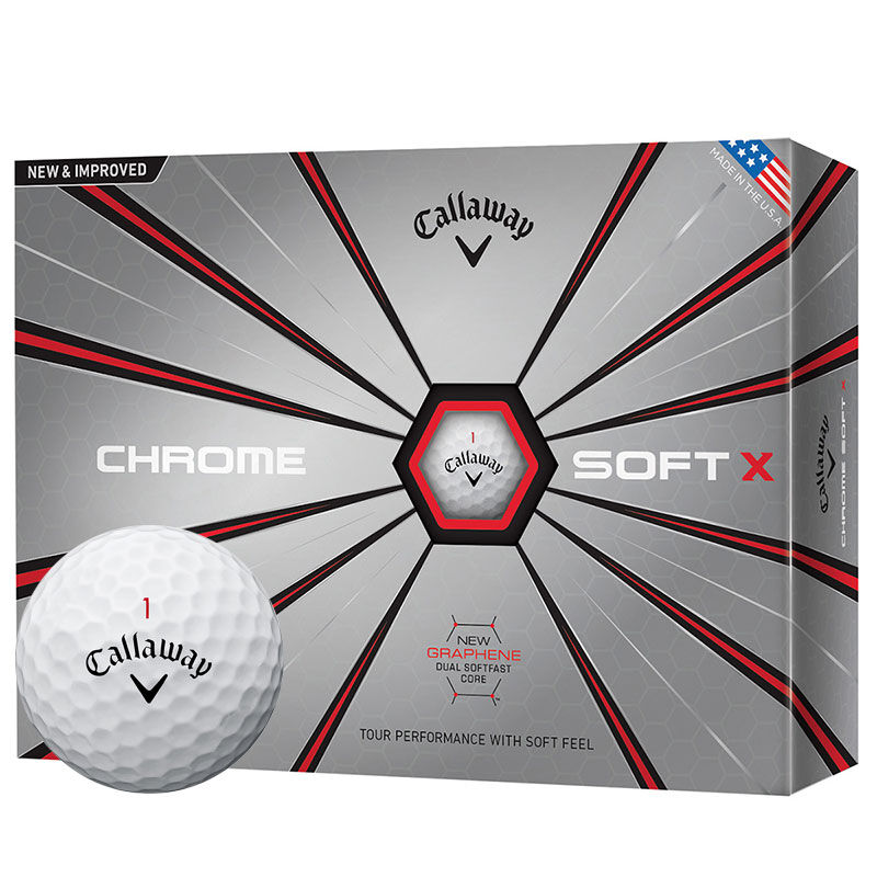Callaway Golf Chrome Soft X 12 Ball Pack Male White