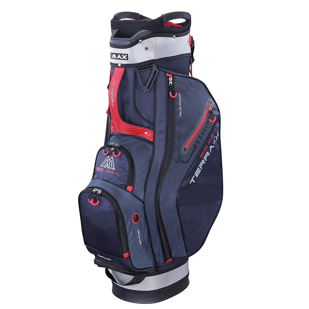 BIG MAX Terra X Golf Cart Bag, Navy/silver/red, One Size | American Golf