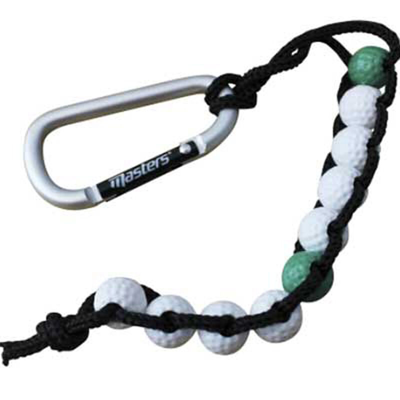 Masters Golf Bead Stroke Counter Male WhiteGreen One Size