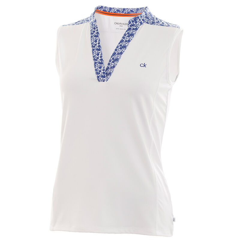 Calvin Klein Glade Ladies Polo Shirt Female WhiteCobalt 10