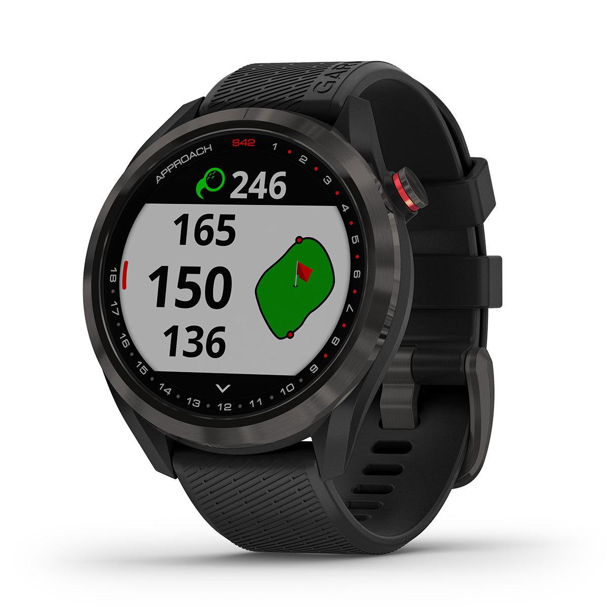 Garmin Approach S42 Golf GPS Watch, Male, Carbon grey/black   American Golf
