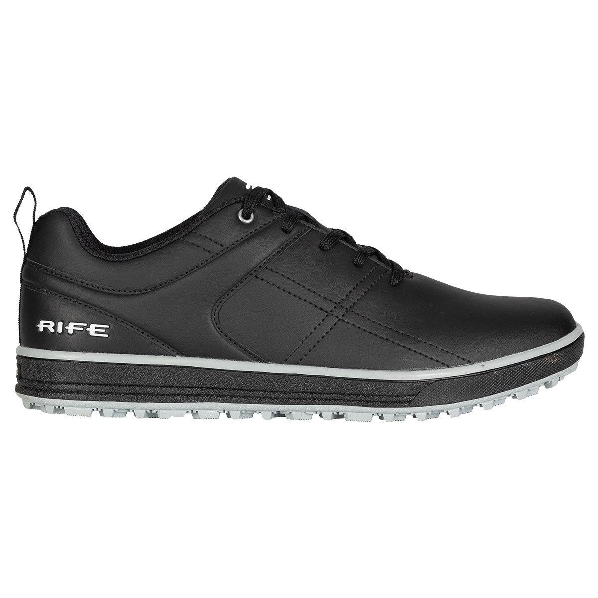 Rife RF-01 Pro-Approach Spikeless Golf Shoes, Male, Black/white, 10, Regular
