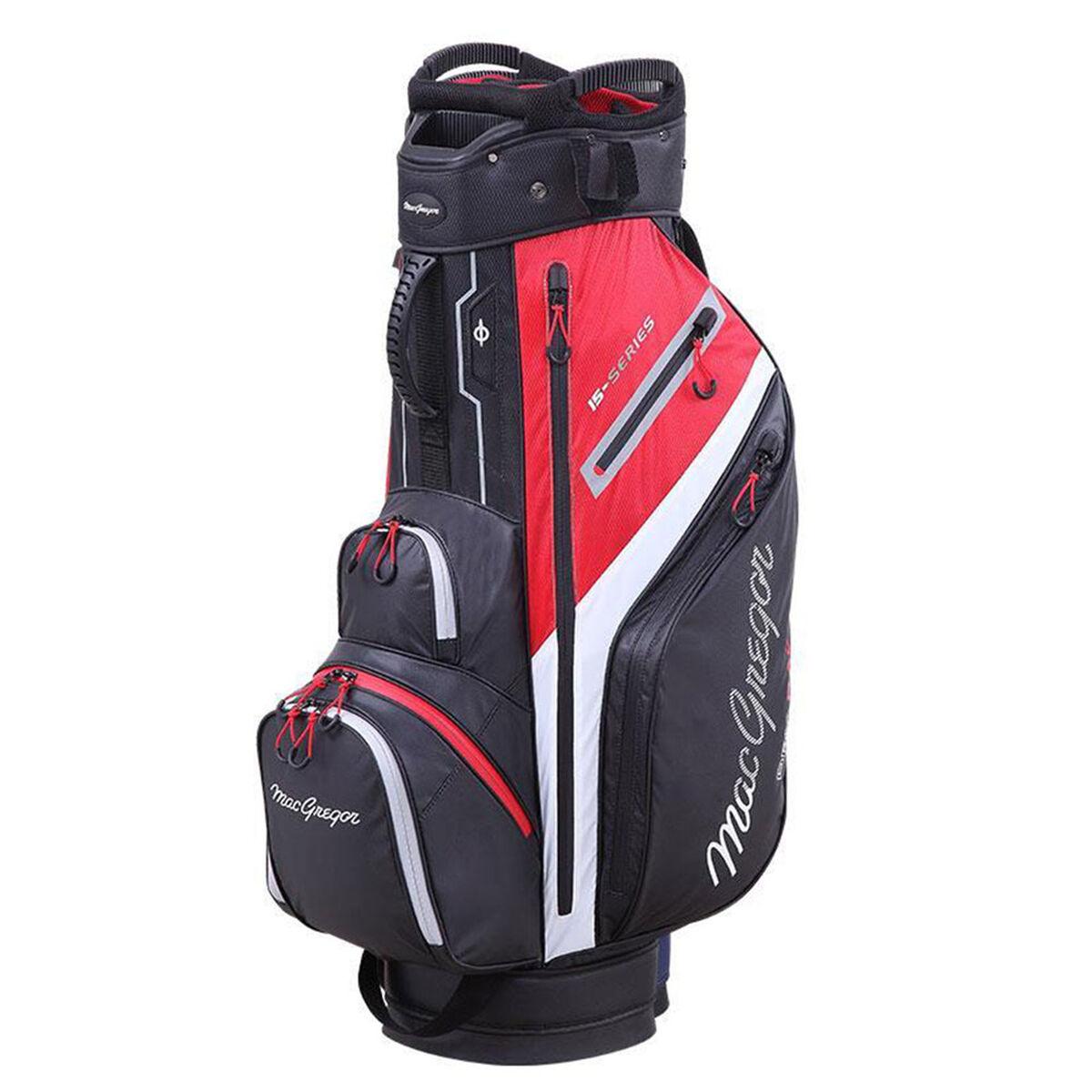 MacGregor 15-Series Water-Resistant Golf Cart Bag, Black/red   American Golf