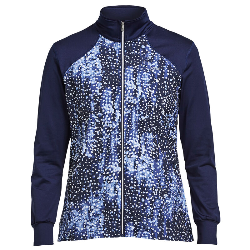 Röhnisch Chip Full Zip Ladies Jacket Female Navy Dot Large