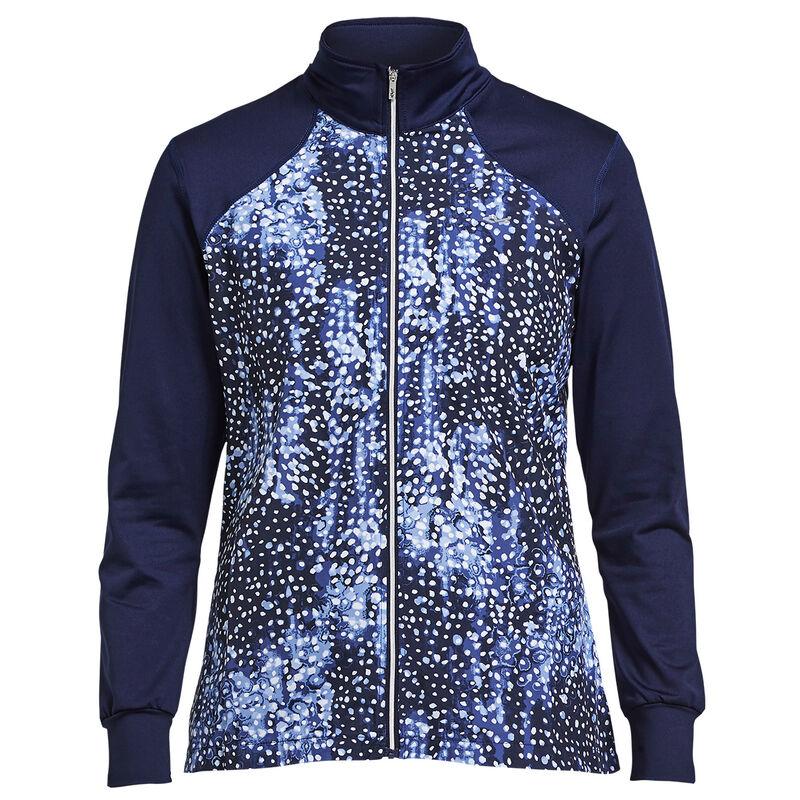Röhnisch Chip Full Zip Ladies Jacket Female Navy Dot Medium