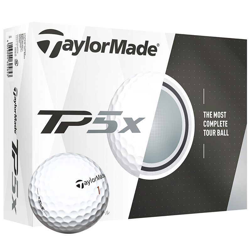 TaylorMade TP5x 12 Ball Pack Male White