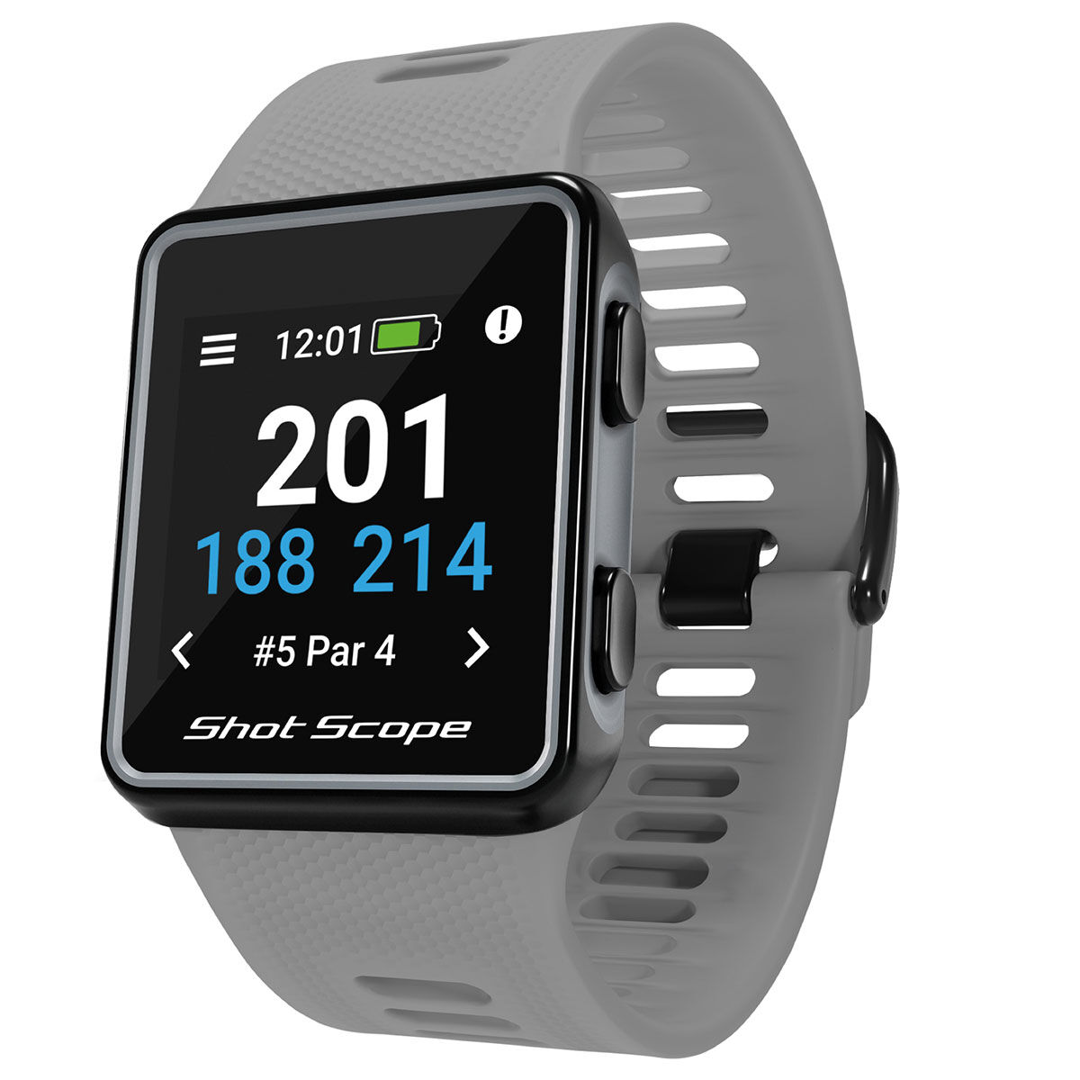 Shot Scope G3 Golf GPS Watch, Male, Grey   American Golf