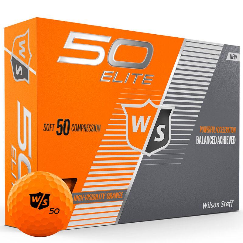 Wilson Staff Fifty Elite 12 Ball Pack Male Orange