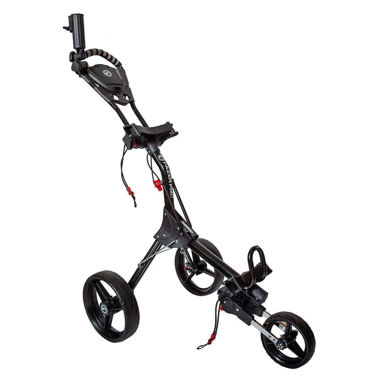Fazer Pro Compact Push Golf Trolley, Black, One Size | American Golf