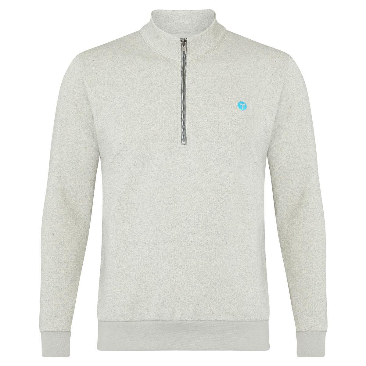 Ocean Tee Mens Grey Wobbegong Zip Golf Sweater, Size: L | American Golf