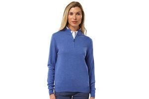 Palm Grove 1/4 Zip Ladies Sweater