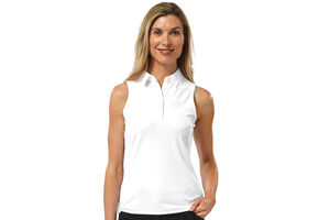 Palm Grove Sleeveless Ladies Polo Shirt