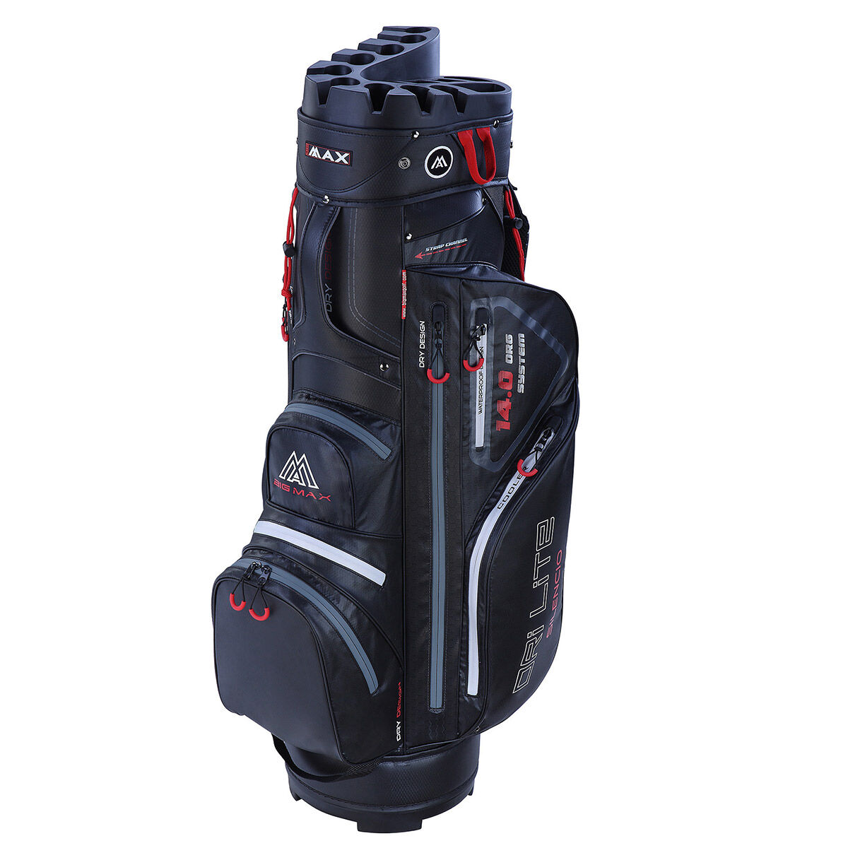 BIG MAX Dri Lite Silencio Golf Cart Bag, Black, One Size | American Golf