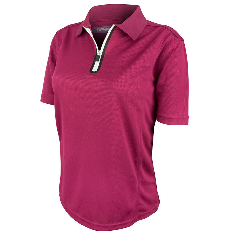 Benross ProShell Ladies Polo Shirt Female Plum 8