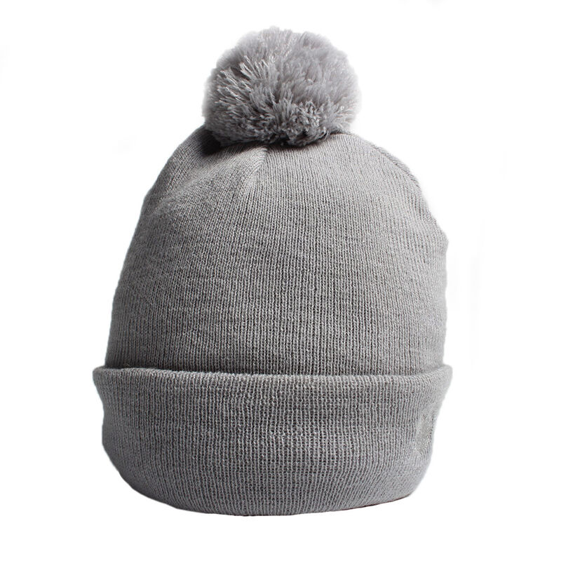 Palm Grove Knitted Ladies Beanie Female Grey Marl One Size
