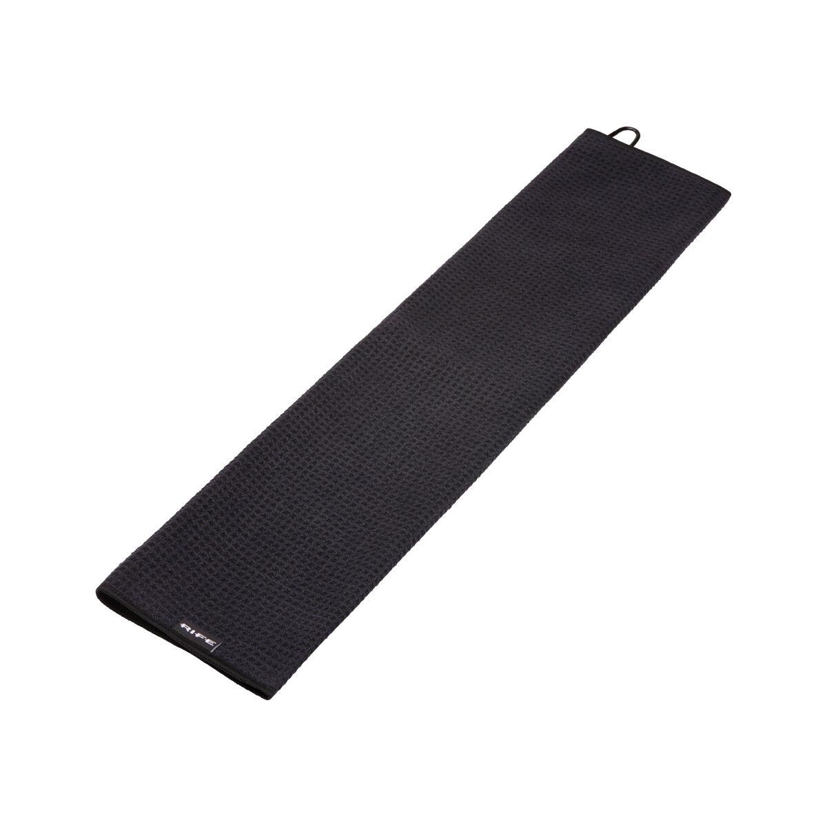 Rife Microfibre Towel, Male, Black
