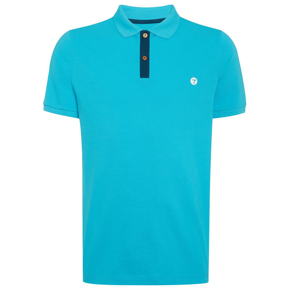 Ocean Tee Mako Golf Polo Shirt, Mens, Aqua, Large | American Golf