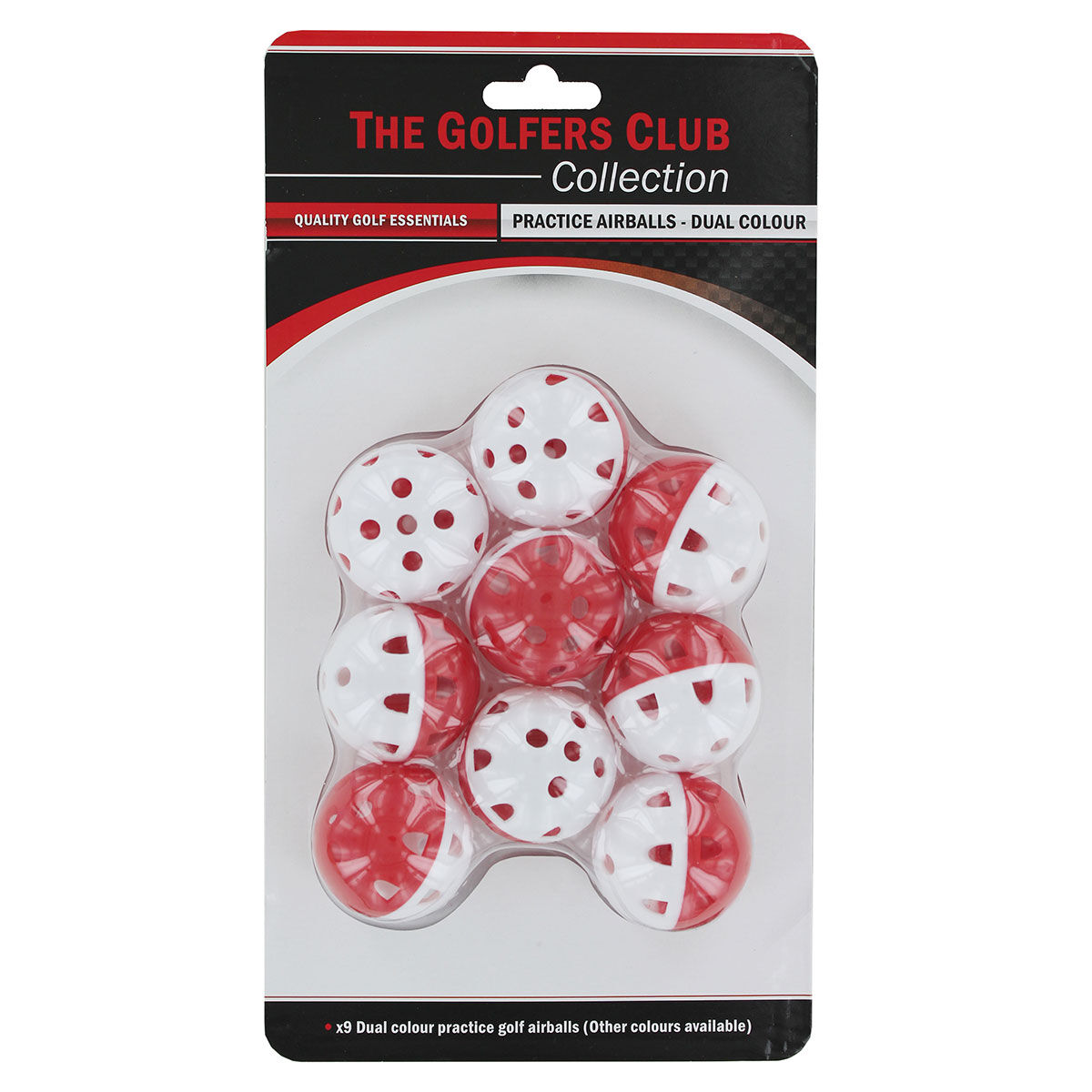 The Golfers Club White and Red Practice Air Flow Golf Balls, One size | American Golf