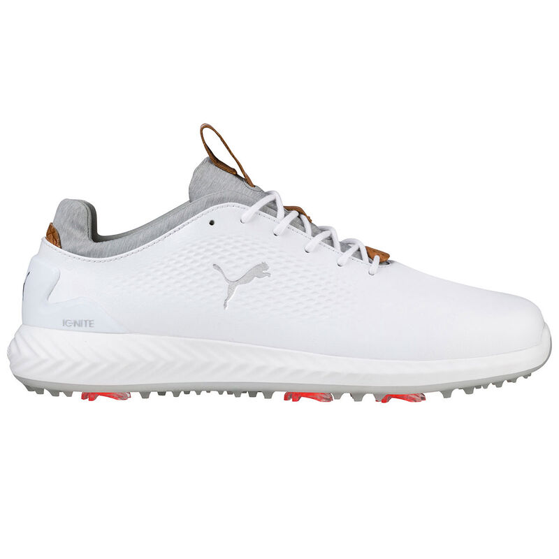 PUMA Golf IGNITE PWRADAPT Leather Shoes Male WhiteWhite 11