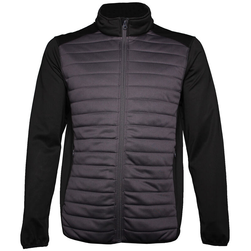 Palm Grove Quilted Jacket Male BlackGrey XXL