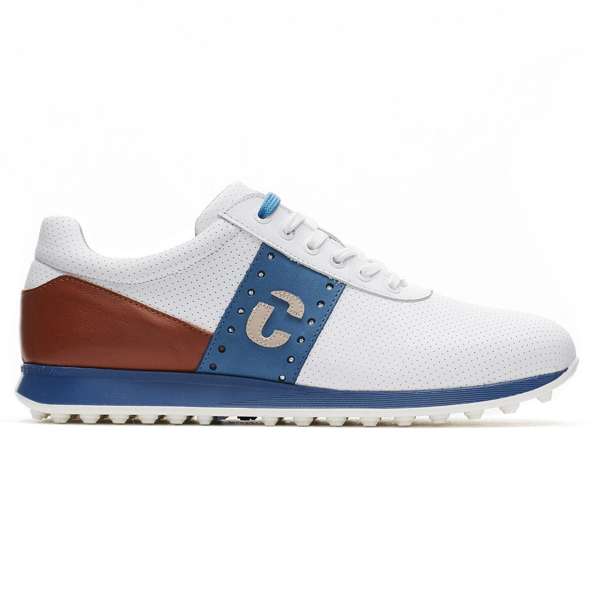 Duca Del Cosma Belair Golf Shoes, Mens, White/cognac, 10   American Golf