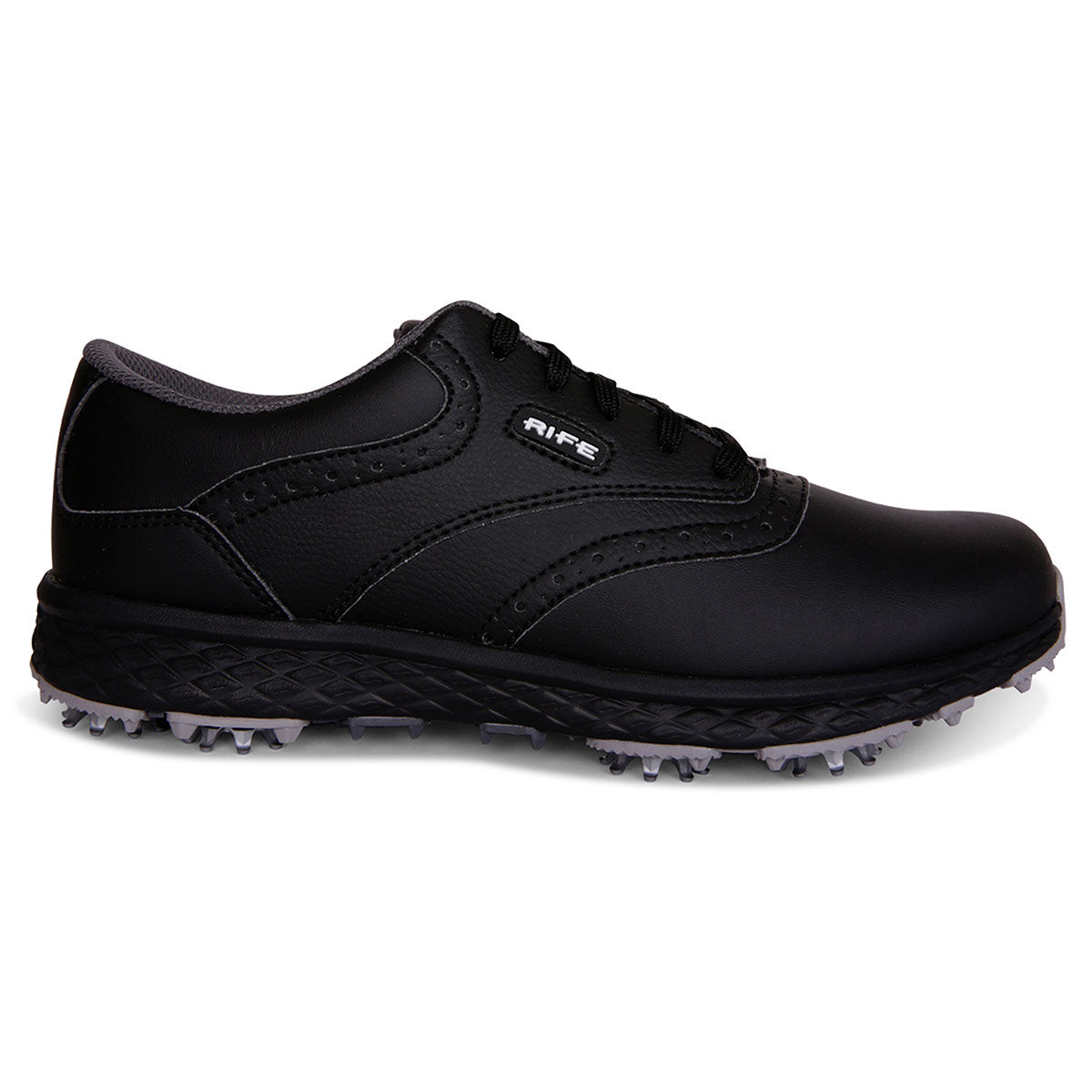 Rife Mens Black and White Long Lasting RF-09 Delta Golf Shoes, Size: 10   American Golf   American Golf