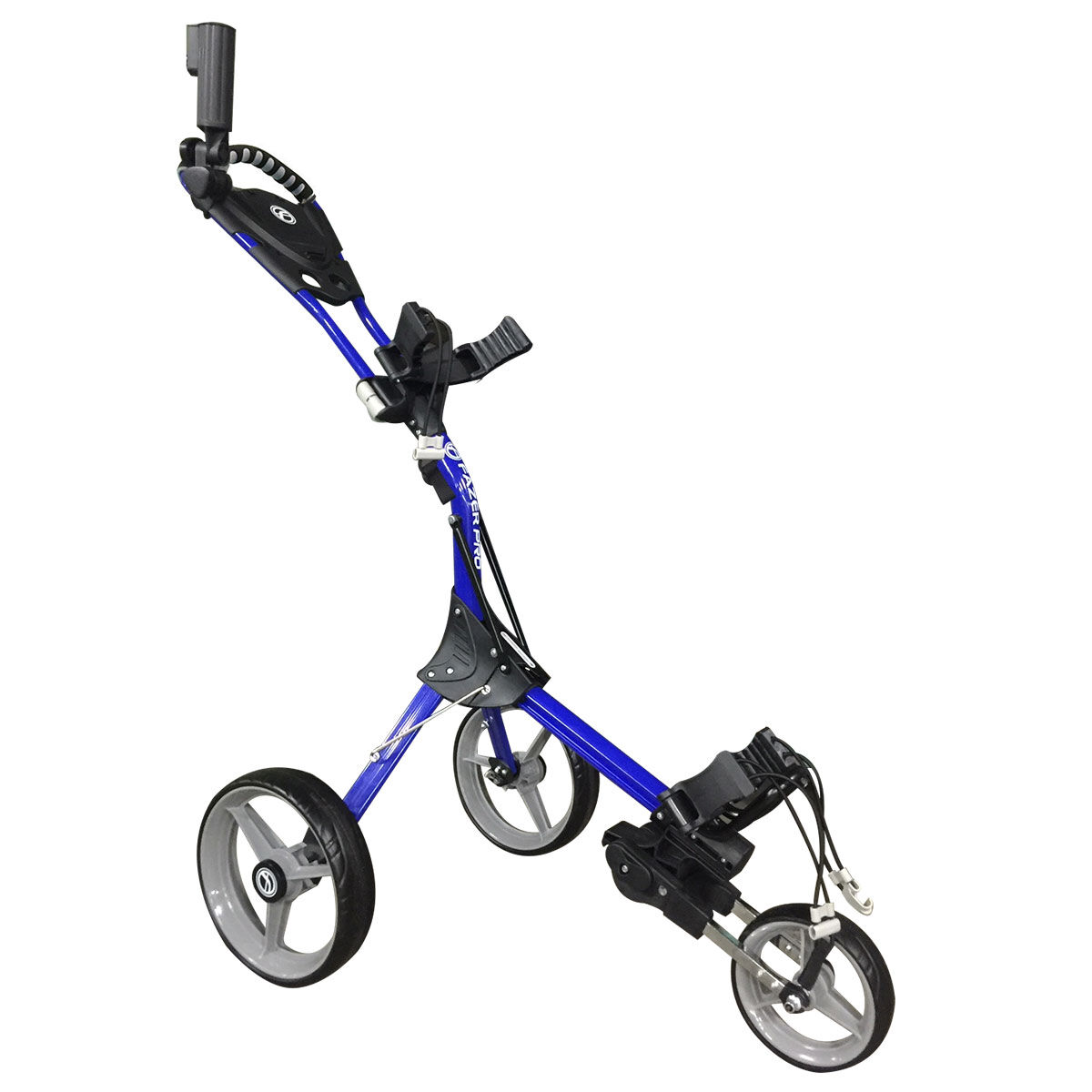 Fazer Pro Compact Push Golf Trolley, Blue, One Size | American Golf