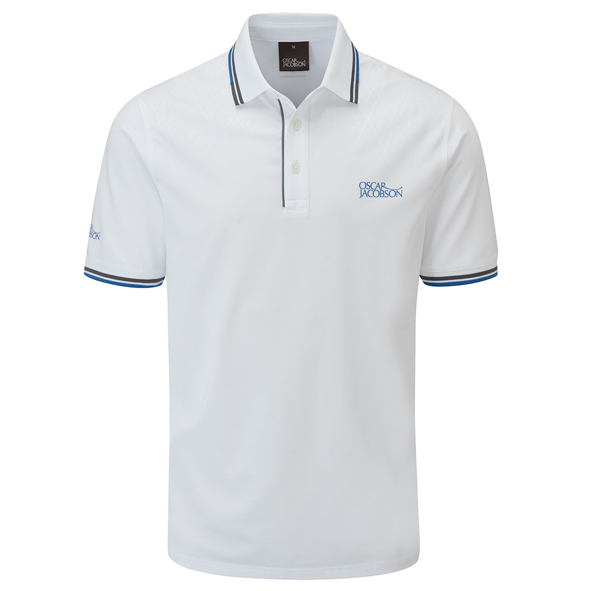 Oscar Jacobson Buxton Golf Polo Shirt, Mens, White, Large | American Golf