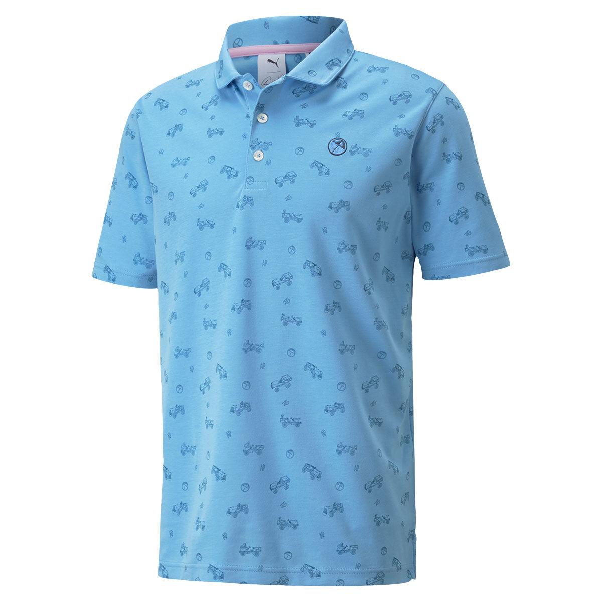 PUMA Golf AP Best Friend Golf Polo Shirt, Mens, Large, Team light blue | American Golf