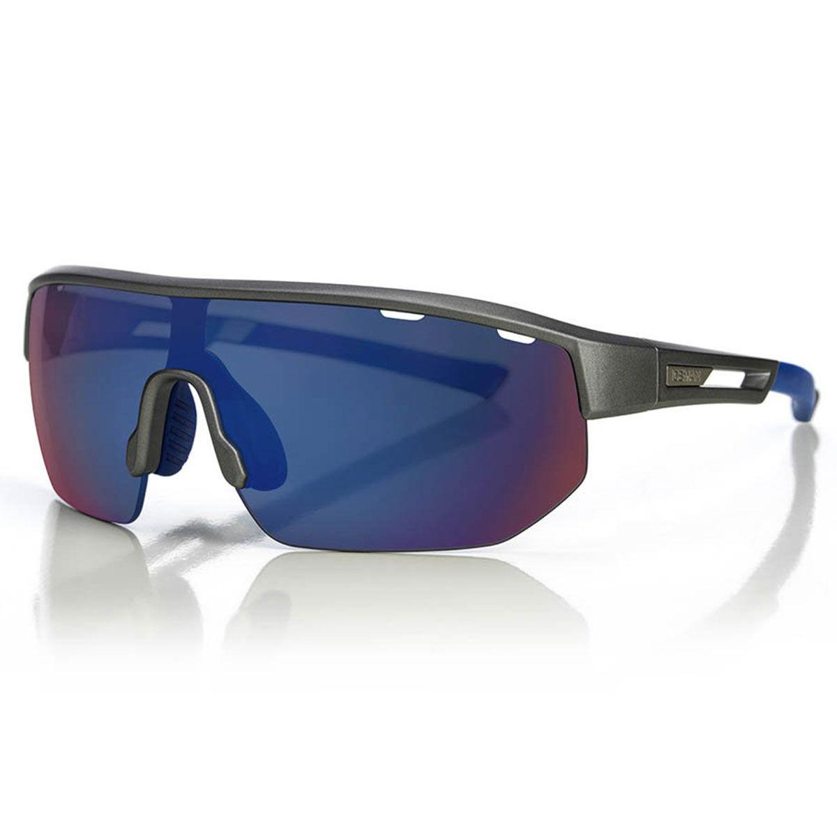 Henrik Stenson Iceman 3.0 Sunglasses, Mens, Grey/blue/smoke/blue mirror | American Golf