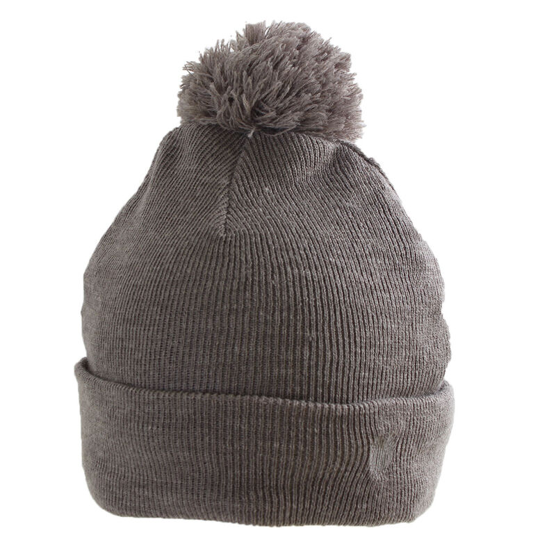 Palm Grove Cable Knit Pom Ladies Beanie Female Charcoal One Size