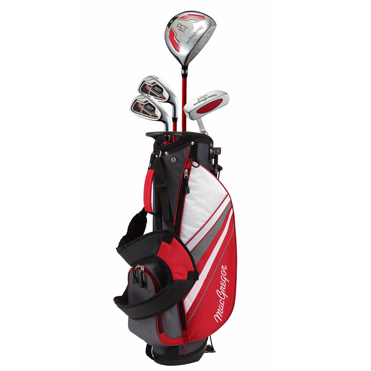 MacGregor DCT 6-8 Junior Golf Package Set, Unisex, Right hand, Red   American Golf